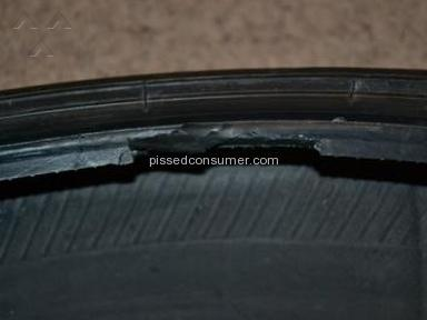 Discount Tire - Scratched my rims and torn my tire!