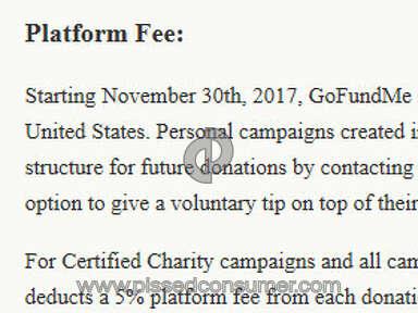 Gofundme - Platform Fee