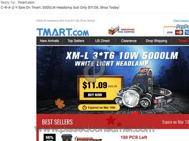 Tmart Xml 3T6 Headlamp review 199226