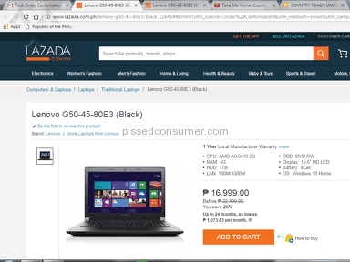 Lazada Philippines Lenovo Laptop review 196782