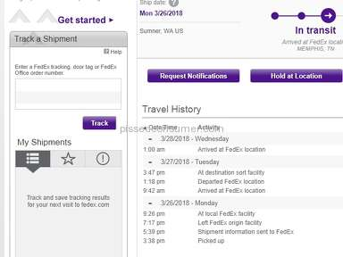 Fedex are incompetent ***