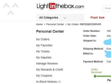 Light In The Box Shipping Service review 434612
