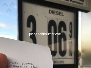 Speedway Gas Station - Over Charged Again