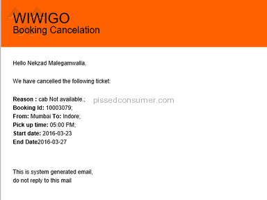 Wiwigo Car Rental Booking review 124015