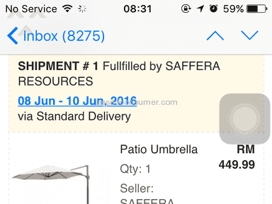 Lazada Malaysia Umbrella review 138647