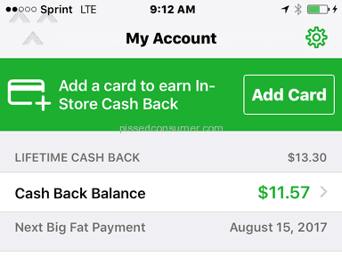 Ebates - NO PAYMENT RECEIVED since August 15, 2017
