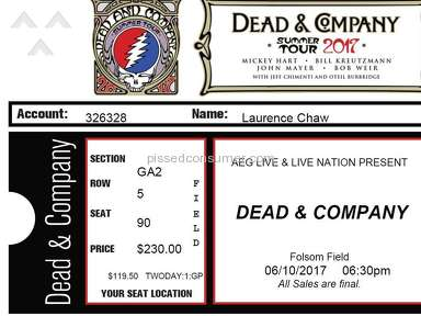 Front Row Tickets Dead And Company Concert Ticket review 211714