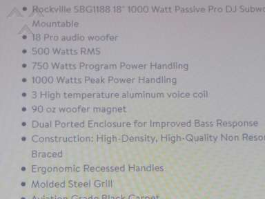 Walmart Rockville Sbg1188 Subwoofer review 236246