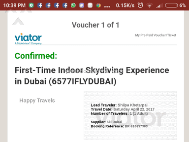Viator First-time Indoor Skydiving Experience In Dubai Event Ticket review 204074