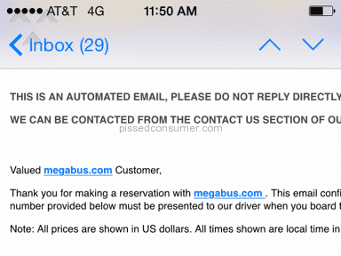Megabus Bus Service review 90283