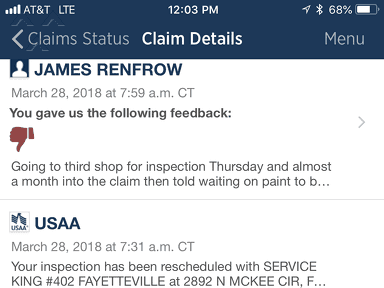USAA Auto Claim review 284644