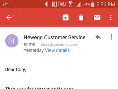 Newegg Shipping Service review 107959