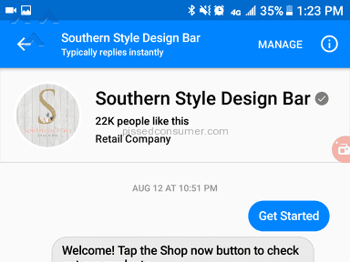 Southern Style Design Bar Shipping Service review 225828