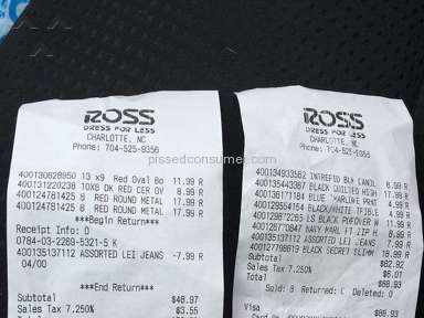 Ross Dress For Less Return Policy Review from Brentwood, Tennessee