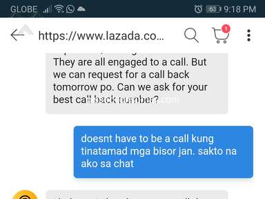 Lazada Philippines Customer Care review 758309