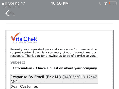 VitalChek - Fraud