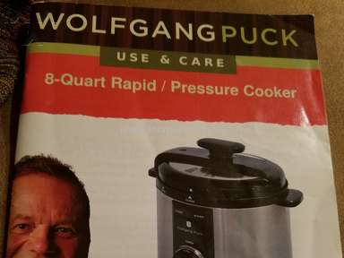 Wolfgang Puck - My 8 Quart pressure cooker need to be replace. We love the w