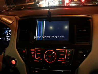 Nissan Usa - 2013 Pathfinder - Navigation Monitor Black-Out In Less Than 24hrs.