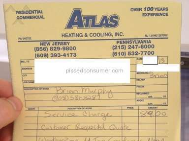 Atlas Heating And Cooling Household Services review 23609