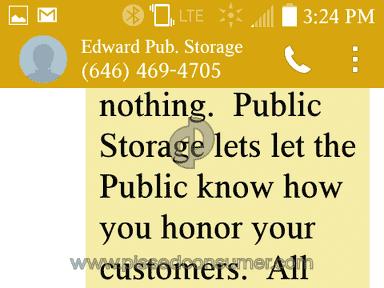 Public Storage Storage Unit review 107307