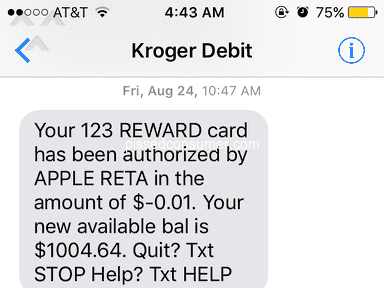 Kroger Personal Finance Customer Care review 344522