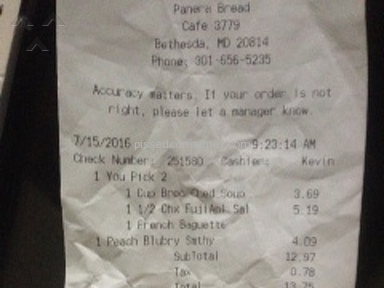 Panera Bread Cashier review 147018