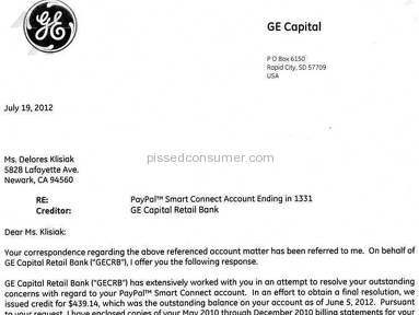 Ge Capital Retail Bank Banks review 15077
