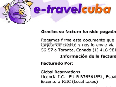 ETravelCuba Car Rental Booking review 232038