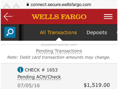 Wells Fargo - Same Check # allowed to post twice