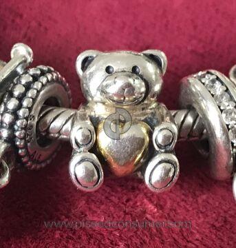 Pandora Jewelry Bear My Heart Charm