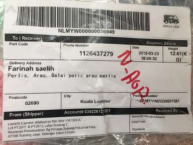Lazada Malaysia Shipping Service review 276860