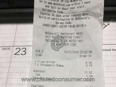 Mcdonalds - Paid food. I merchandise!!!