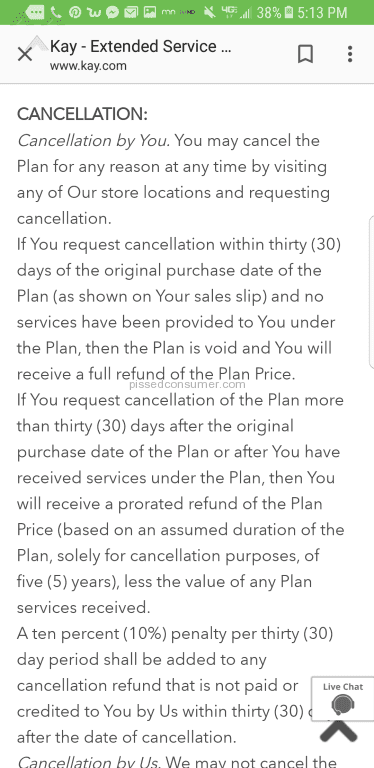 Kay Jewelers No Refund Same Day As Stated Dec 15 2019 Pissed Consumer