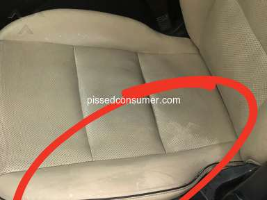 Car X - Damage to the drivers seat of my vehicle