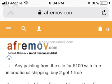 Afremov - So far. The price dropped right after I bout my paintings.