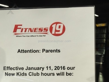Fitness 19 Kids Room Review from Los Angeles, California