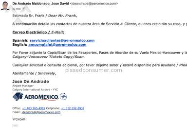 Aeromexico Airlines Transport review 265350