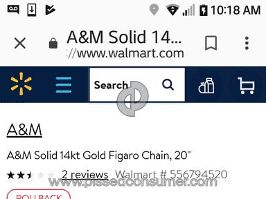 Walmart selling fake gold as gold