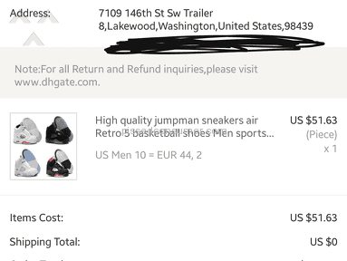 Dhgate Delivery Service review 222308