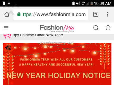Fashionmia - Did not receive item