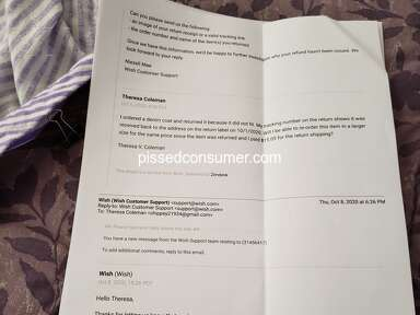 Wish Customer Care review 947808
