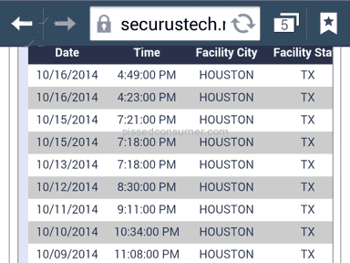 Securus Technologies - Dropped Calls Review from Houston, Texas