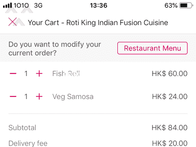 Foodpanda Hong Kong Customer Care review 359070