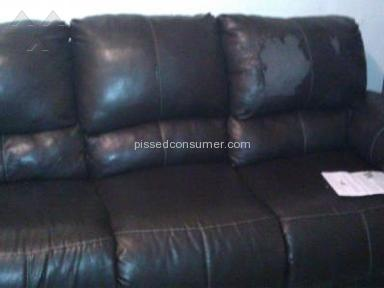 Fake leather couches from rent a center
