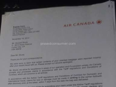 Air Canada Baggage Policy review 160660