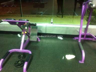 Planet Fitness - Garbage dump