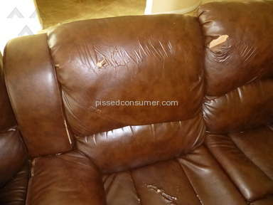 Jeromes Furniture - Couches falling apart! Cheap Chinese Junk!!
