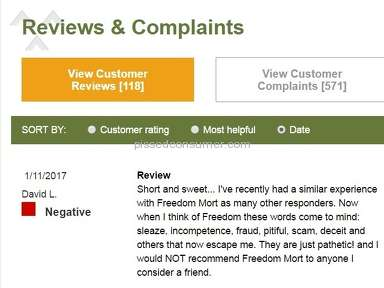 Freedom Mortgage - The most disheartening experience ever!