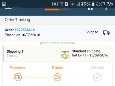 Lazada Philippines Shipping Service review 160862