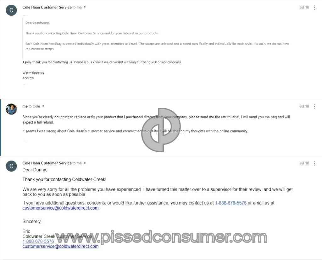 de3f8208cb 1 Cole Haan Preston Brief Handbag Review or Complaint @ Pissed Consumer